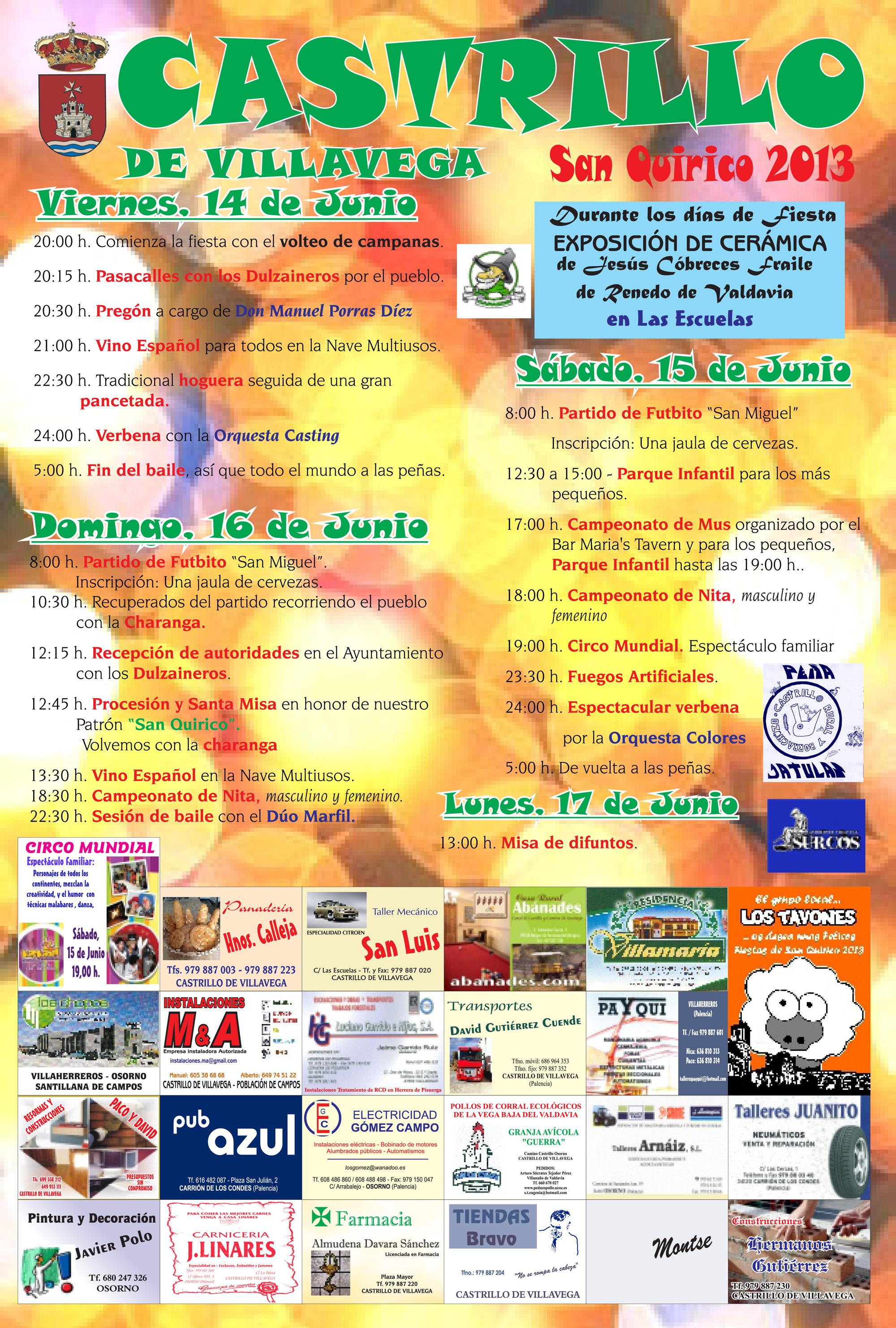 Fiestas de San Quirico 2013